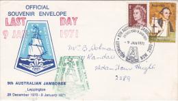 Australia 1971 9t Australian Jamboree,Leppington, Last Day 9 January, Souvenir Cover - Scouting
