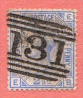 "GBR SC #82 U PLT# 23 ""131"" W/wrinkles UR CNR, + Discolorization, CV $32.50 - 1840-1901 (Victoria)"