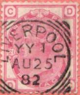 "GB SC #83 U PLT#21 W/SON (""LIVERPOOL / AU 25 82"")  SCOTT: CDS ""SCARCE TO RARE"", CV $90.00+ - Used Stamps"