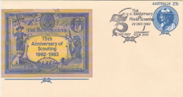 Australia 1982 75th Anniversary Of World Scouting Souvenir Cover - Scouting