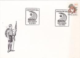 Norway 1989 Scout Souvenir  Card - Scouting