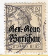 German Occupation Poland N 6  (o) - Occupation 1914-18