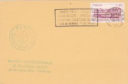 Italy 1973 Genova Scout Camping Souvenir Card - Scouting