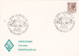 Italy 1974 La Spezia ASCI 2nd Photographic Exibition Souvenir Card - Scouting