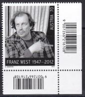 D 144) Österreich Austria MiNr. 3074 **: Franz West - Künstler, Raucher, Zigarette; Artist Cigarette Smoker - Muziek