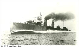 "Guerre. HMS Basilisk, Destroyer Royal Navy. Tampon ""nautical Photo Agency"" Au Dos - Guerre"