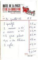 """ADDITION """"HOTEL DE LA POSTE ET DE LA CROIX D OR"""" - PONTORSON - Sports & Tourisme"""