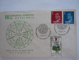 Spanje Espagne Spain Brief Lettre Letter 1979 Cachet De Congres De Patologie Timbres Juan Carlos - 1931-Aujourd'hui: II. République - ....Juan Carlos I