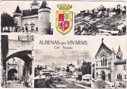 07. Gf. AUBENAS-EN-VIVARAIS. 5 Vues + Blason. 40 - Aubenas