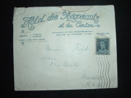 LETTRE POUR FRANCE TP 1F75 OBL.MEC. BRUXELLES + HOTEL DES NEGOCIANTS ET DU CENTRE - Belgium