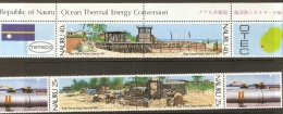NAURU - 1982 THERMAL ENERGY CONSERVATION SET OF 4 + 4 LABELS MNH **    SG 263-6 - Nauru