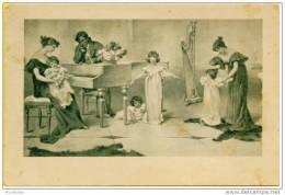 Image De Famille (Napoléon ?) Avec Enfants, Harpe, Piano Ou Clavecin - Autres