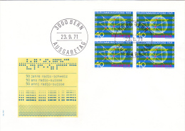 SWISS RADIO,COVER FDC,1971,SWITZERLAND - FDC