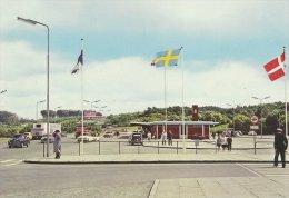Borderline  Krusaa    Between Germany & Denmark .  Grenze -Borderstation.  # 0882 - Postcards
