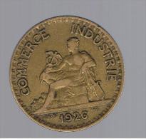 RARA - FRANCIA 2 Franc 1926 Camara De Comercio  KM877 - Otras Monedas