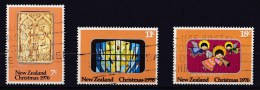 New Zealand 1976 Christmas Set Of 3 Used - New Zealand