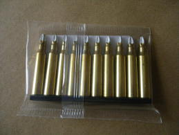 10 Cartouches à Blanc  Laiton Cal 5,56mm  Pour FAMAS - Equipement