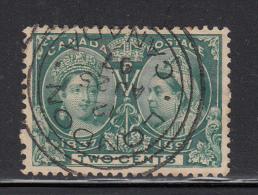 Canada Used Scott #52 2c Jubilee Cancel: 3-ring London Canada AU 25 97 - 1851-1902 Règne De Victoria