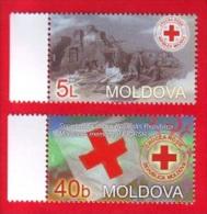 Moldova, 2 V., Red Cross / Rotes Kreuz, 2003 - Moldavie