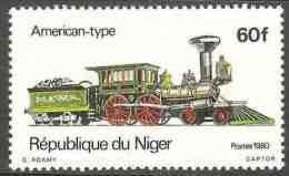 """Niger 1980 Mi 708 YT 511 ** """"Fred Merril"""" Steam Locomotive (1848) USA / Dampflokomotiven - Treinen"""