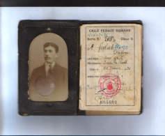 Romania-Identification Card For Travel CFR Years 1930-1934, Bukovina-Cernautzi-7/scan S - Chemins De Fer