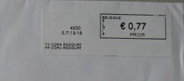 België 2013 PP Cora Roccourt 4000 - Logo Bpost (briefomslag) - Automatenmarken (ATM)