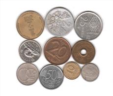LOTTO DI 10 MONETE VARIE - DA VEDERE! (002) - Monete