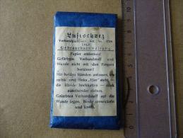 Compresse Allemande Luftschutz Datée 1943 (bleue) - Equipement