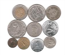 LOTTO DI 10 MONETE VARIE - DA VEDERE! (001) - Monete