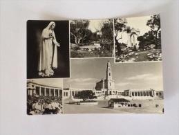 CARTOLINA FATIMA CON MADONNA VIAGGIATA DEL 1958 - Vergine Maria E Madonne