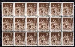 Indonesia RIS Sen Perf 11½ Part Sheet Of 18 CV Zonn.nr. 56A € 100 (ni122) - Indes Néerlandaises