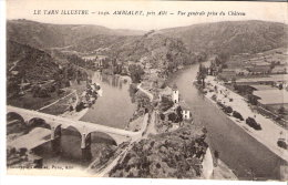 Ambialet (Villefranche D´Albigeois-Albi-Tarn)-19 18-Vue Générale Prise Du Château-Belle Oblitération  D´Albi En 1918 - Villefranche D'Albigeois