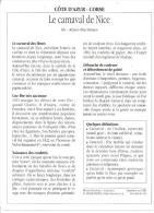FICHE CARNAVAL DE NICE ET SON HISTOIRE REF 33686 - Sonstige