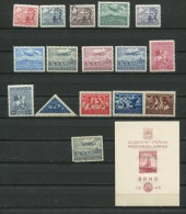 Czechoslovakia  1946 Accumulation MNH/MH (2 Stamps Are Used)Complete Sets CV 19 Euro - Czechoslovakia