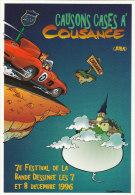 MALTAITE Eric. Carte Postale Pour Le 7e Festival BD 1996 à COUSANCE Dans Le Jura. Causons Cases à Cousance. - Cartes Postales