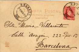 652- Postal Granada 1905, Alfonso Xlll, Cadete - 1889-1931 Kingdom: Alphonse XIII