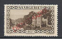 SARRE   SERVICE YVERT N� 21 / MAURY N� 17 TIRAGE DE 1927  NEUF** LUXE
