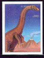 GHANA  2093 ;MINT NEVER HINGED SOUVENIR SHEET OF DINOSAURS - Prehistóricos