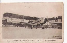COMPAGNIE IMPERIALE AIRWAY  SERVICE TRIMOTEUR 20 PLACES PARIS LONDRES - 1919-1938