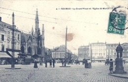 NORD PAS DE CALAIS - 59 - NORD - ROUBAIX - La Grand Place Et L'église Saint Martin - Animation - Roubaix