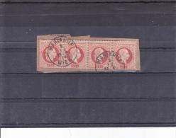 Stripe Of Four Stamps FRANZ JOSEPH - Usados