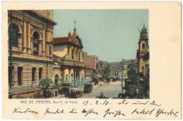 AK Rio De Janeiro Rue 1er De Marco Mit Nr. 166, Echt Gelaufen Nach Obernzell/Bayern 14.02.1910 - Rio De Janeiro