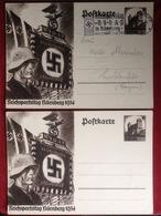 Propagandakarten 2 AK WW2 Reichsparteitag Nürnberg 1934 - Weltkrieg 1939-45