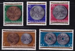 PNG 1975  Coins   Sc 410-4   **  MNH - Papouasie-Nouvelle-Guinée