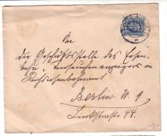 """Lettre Suéde Stockholm- Berlin, Vignette """"Kaiserlich Deutsche Gesandtschaft In Stockholm (5601) - Sweden"""