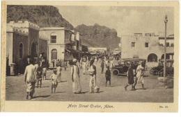 AFRICA - YEMEN - ADEN - MAIN STREET CRATER - 1920s POSTCARD - Yemen