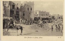 AFRICA - YEMEN - ADEN - THE MARKET AT LAHEJ - 1920s POSTCARD - Yémen