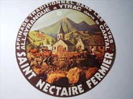 TSN57b / étiquette De Fromage SAINT NECTAIRE - ALLAYRANGUE - YTRAC - CANTAL 15 - Fromage