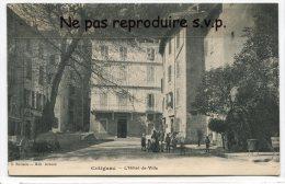- COTIGNAC - L´Hôtel De Ville En 1912, Animation, Charrette, Le Platane ?, Rare,  écrite, TTBE, Scans. - Cotignac