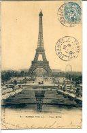 75007 PARIS - Tour Eiffel - Vue Prise Du Trocadero - Reflets Dans Les Bassins - Arrondissement: 07